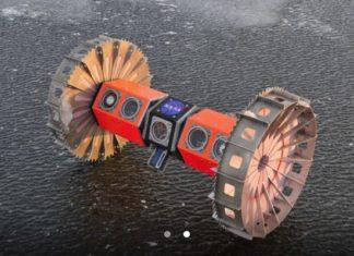 Photo of two wheeled autonomous rover