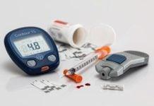 syringe and glucose monitor