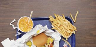 Photo of hamburger and fries