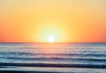 Photo of hazy sunset