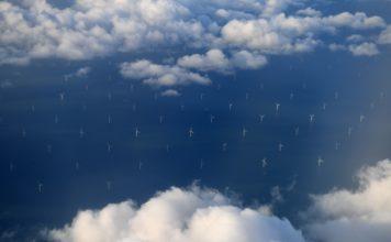 Photo of large ocean wind farm